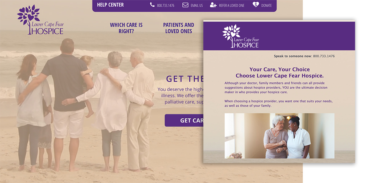 email marketing for medical practices hospice example